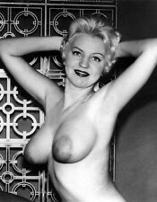 1960s Pinup Nude Pixie Blonde topless DD breasts 8 x 10 Photograph