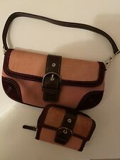 Virgin Vie Pink And Brown Bag And Purse - Small Handbag And Purse