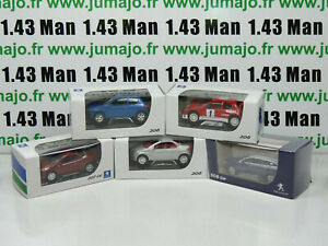 TRI1 : 5 X 3 inches 1/64 PEUGEOT NOREV  206 3 porte, cc, racing, 207 cc, 508 sw