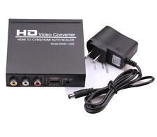 HDMI to HDMI+ AV CVBS RCA Video Converter Scaler For STB DVD NTSC PAL PC to TV