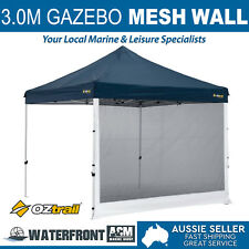 Oztrail 3.0m Gazebo Mesh Wall Black Deluxe Marquee Side Walls Canopy Shade