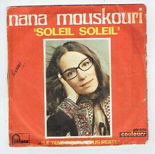 "Nana MOUSKOURI Vinyle 45 tours SP 7"" SOLEIL SOLEIL - FONTANA 6010 069 RARE"
