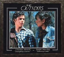 THE OUTSIDERS 16X20 PHOTO SIGNED BY THOMAS HOWELL & RALPH MACCHIO SCHWARTZ COA
