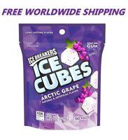 Ice Breakers Ice Cubes Arctic Grape Sugar Free Gum 100 Pieces FREE WORLD SHIP