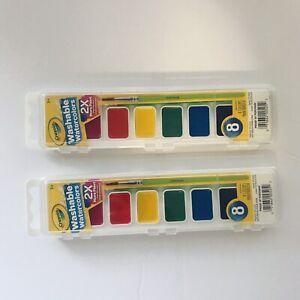 Lot Of 2 Crayola Washable Watercolors 8