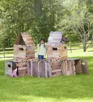 Fort Construction Set Fort Panels Building Set Play Den Playhouse Castle Den