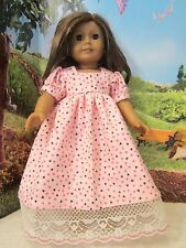 "homemade 18"" american girl/madame alexander pink hearts nightgown doll clothes"