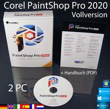 Corel PaintShop Pro 2020 versión completa 2 pc box + DVD, Manual (PDF) OVP nuevo