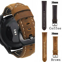 Genuine Leather Watch Band Strap For Samsung S3/S2/Galaxy watch 20mm/22mm Acc