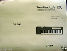 Owner's Users Operating Manual for Casio CA-100 and Concertmate 670 Keyboard
