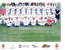 2004 INDIANAPOLIS INDIANS 8X10 TEAM PHOTO REDS  BASEBALL INDIANA USA COREY HART