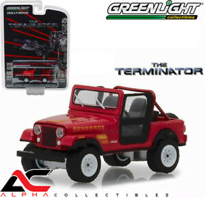 "GREENLIGHT 44810B 1:64 1983 JEEP CJ-7 RENEGADE RED ""THE TERMINATOR"""