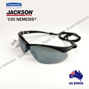 2X Jackson Safety Glasses V30 ELEMENT Lens Smoke Mirror UVA/UVB/UVC Protection