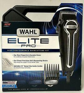 Wahl Elite Pro 79602 Corded Hair Clipper Precision Trimmer Cut Kit With Guards