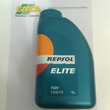 REPSOL ACEITE LUBRICANTE  ELITE TDI 15w40 . 1 Litros RP1