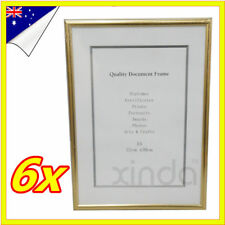6 X White A4 Size Document Certificate Photo Picture Glass Frame BULK Lots Sets
