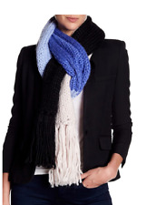 Kate Spade Hand-knit Color Block Scarf KS1000462 NWT Retail $98.00