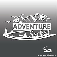 Adventure Seeker Travel Camper Van Laptop Car Window Bumper Vinyl Decal Sticker