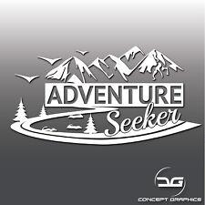 Adventure Seeker VIAGGI CAMPER Auto Laptop Finestrino Adesivo Decalcomania In Vinile Paraurti