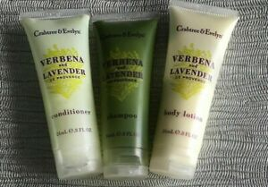 Crabtree & Evelyn  - Verbena & Lavender Travel Toiletries 3 Piece travel Set