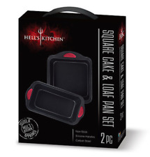 New listing Hell's Kitchen 2 Piece Square Cake & Loaf Pan Set - New