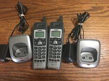 2 UNIDEN Cordless Phone Handset w/ ECX56 Charging Base (7B)