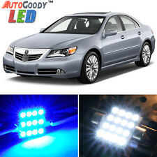 9 x Premium Blue LED Lights Interior Package Deal for Acura RL 2005-2012 + Tool
