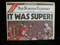 "1985 Joe Montana 49ers Super Bowl XIX San Francisco Examiner ""It Was Super"""