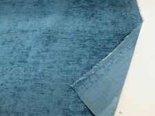 "Dark Teal/Turquoise Chenille ""Eaton"" Fire Resistant Heavy Upholstery Fabric"