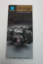 Minolta Maxxum 7000 Brochure+English+Original+W0W