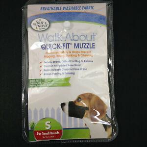 Walkabout Quik Fit Dog Muzzle Soft Fabric Dog Black Small Beagle Cocker