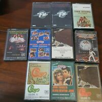 Bulk Lot 10 Cassette Tapes Musicals Grease Chicago Saturday Night Fever FM