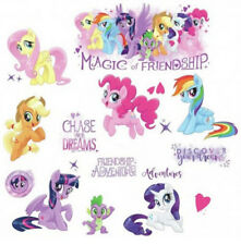MY LITTLE PONY MOVIE wall stickers 18 decals Rainbow Dash MLP glitter horses NEW