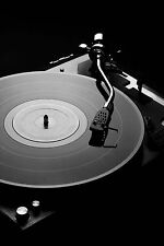 SUPERB RETRO VINYL TURNTABLE #347 QUALITY DJ CLUBBING CANVAS PICTURE WALL ART A1