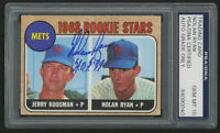 Nolan Ryan Signed 1968 Topps #177 Rookie Stars / Jerry Koosman RC / Nolan Ryan