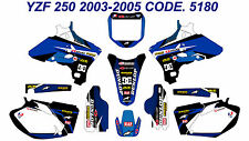 5180 YAMAHA YZF250 YZF450 2003 2004 2005 DECALS STICKERS GRAPHICS KIT