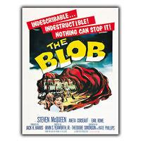 THE BLOB METAL SIGN WALL PLAQUE Vintage Cinema Film Movie Advert poster print