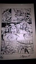 Armorines #1 Page 19 Original Ink art Jim Calafiore & Rod Ramos Valiant Comics