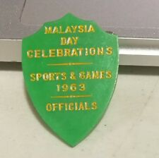 1963 Malaysia Celebration Day sports and games official  pin Badge