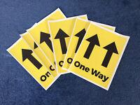 280 mm x 210 mm 4 X social se Autocollants-One Way Sol Vinyle Signe A4