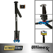 """Ultimaxx 62"""" Monopod Tripod with Base Stand and Phone Holder"""