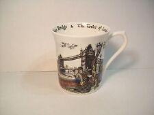 QUEEN'S COFFEE MUG SCENES OF OLD LONDON by CAROLE E WATSON Fine Bone China cup
