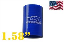 """4-ply Silicone Straight Coupler Hose Pipe couplings 40mm 1.58"""" Blue"""