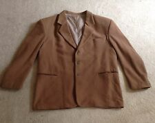 Men's Tan Cashmere Overcoat, GOOD Condition, (see measurements) RRP $180