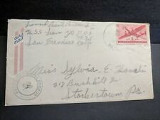 USS LEON APA-48 Naval Cover 1944 Censored WWII Sailor's Mail w/ letter