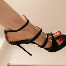 rene caovilla 39 high heels, black , sandals, slightly used