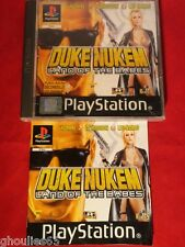 DUKE NUKEM LAND OF THE BABES PLAYSTATION 1 DUKE NUKEN PS1 PSONE PS2 PS3
