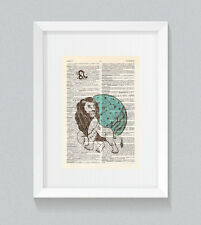 Leo Zodiac Astrology Starsign Vintage Dictionary Book Print Art