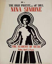 Nina Simone: The High Priestess of Soul 1980s U.S. Mini Poster