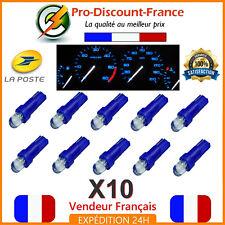 10 x T5 LED Voiture Bleu Ampoule Tableau de Bord Compteur Tuning 12V